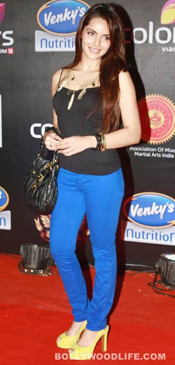 Shahzahn Padamsee at the 'Super Fight League' event