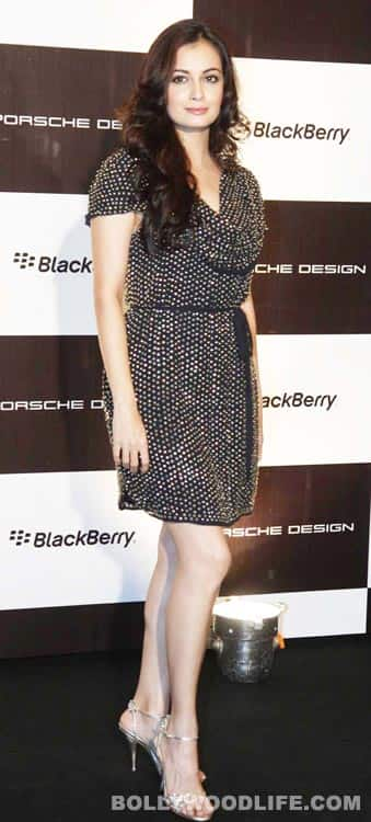 Dia Mirza spotted at the Blackberry-Porsche event