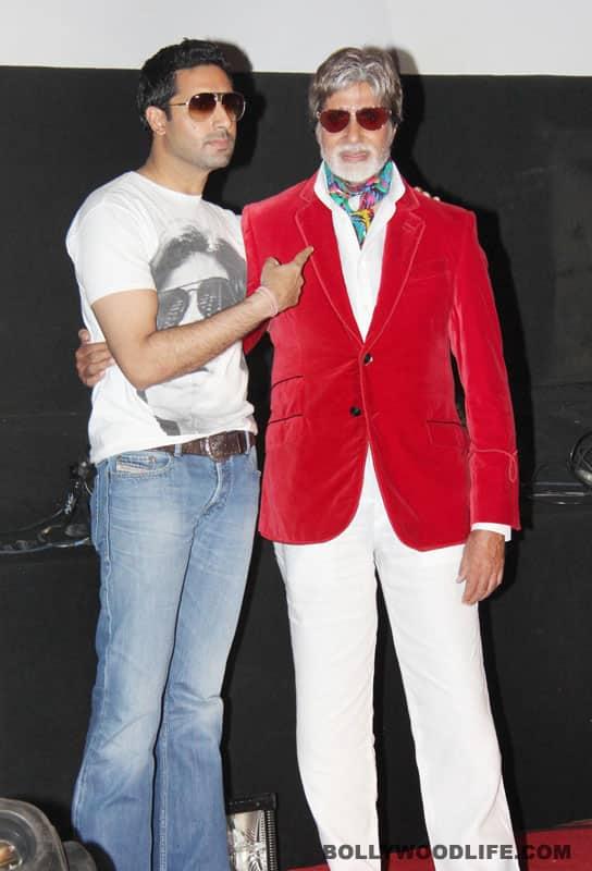 Amitabh promotes son Abhishek on KBC 5