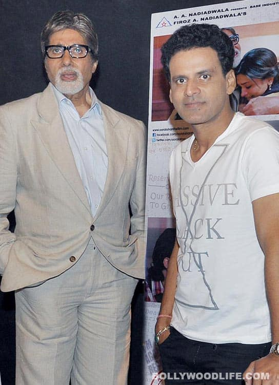 Amitabh Bachchan lands 'Aarakshan' co-star Manoj Bajpayee in trouble