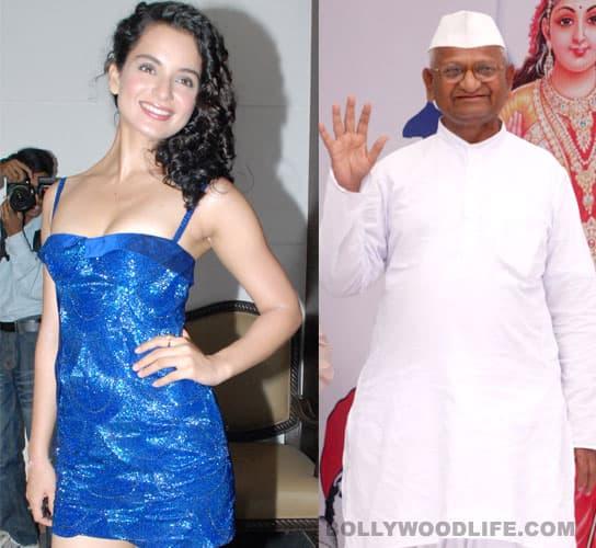 Kangna Ranaut desires Anna Hazare