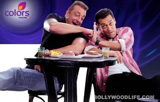 Salman Khan and Sanjay Dutt in BIGG BOSS 5: title track