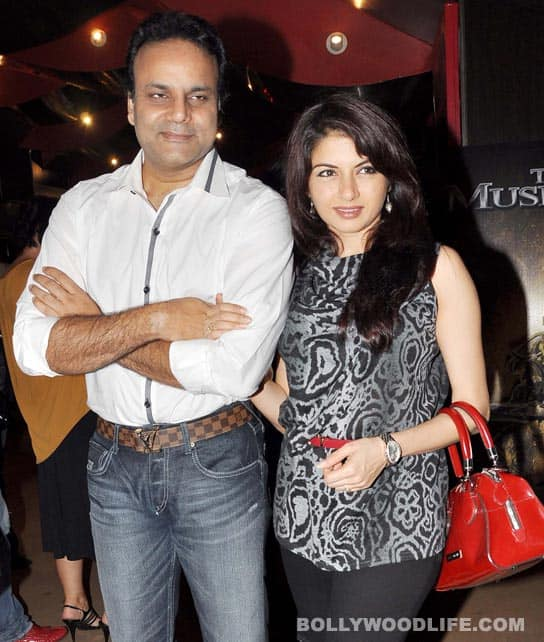 Bhagyashree along with husband Himalaya