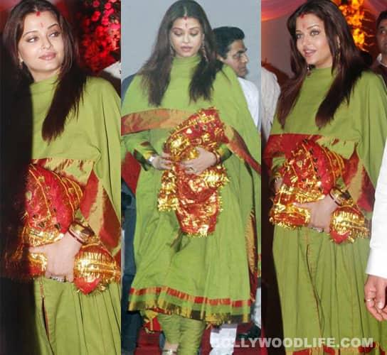 Aishwarya Rai attends Sanjay Dutt's 'Mata Ki Chowki'