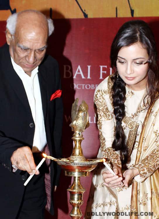 Dia Mirza and Yash Chopra inaugurate the 13th Mumbai Film Festival