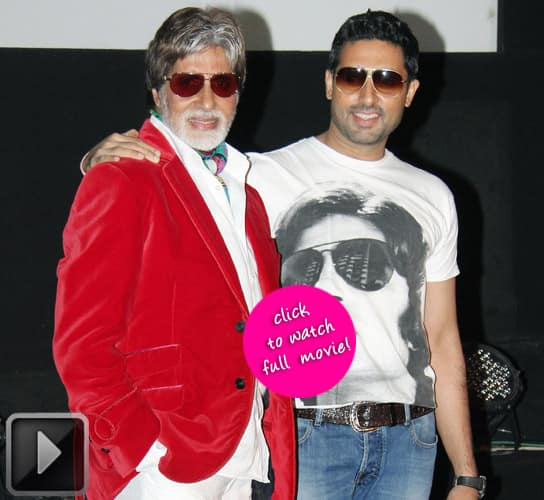 Amitabh and Abhishek Bachchan watched 'Singham' on boys night out!