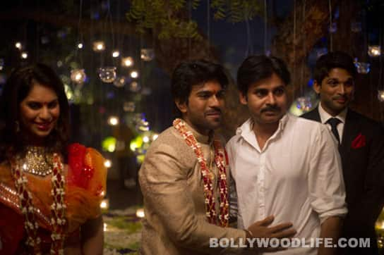 Allu Arjun and Pawan Kalyan at Ram Charan and Upasana's engagement.