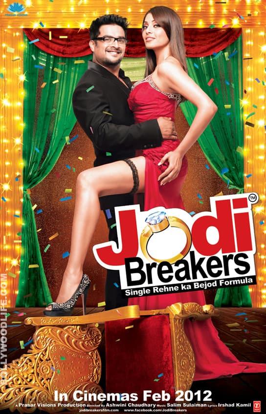 JODI BREAKERS poster: Bipasha Basu looks taller thanMadhavan!