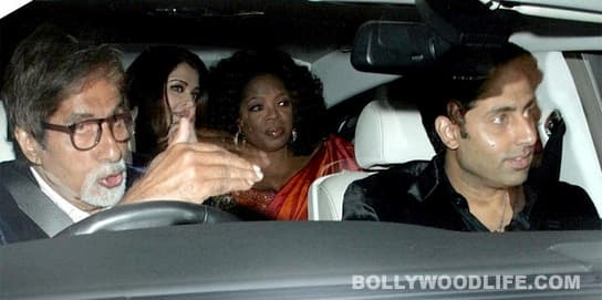 Oprah Winfrey welcomed by Aishwarya Rai, Amitabh Bachchan and Shahrukh Khan