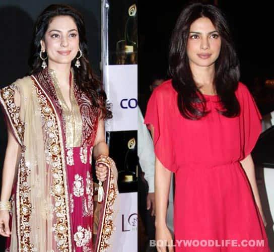 Does Juhi Chawla envy Priyanka Chopra's pout?