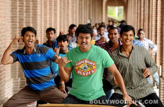 Vijay, Ileana, Jeeva and Srikanth in NANBAN: stills