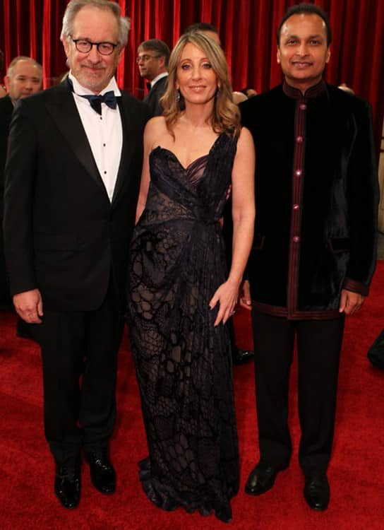 Anil Ambani walks Oscar Awards 2012 red carpet with Steven Spielberg