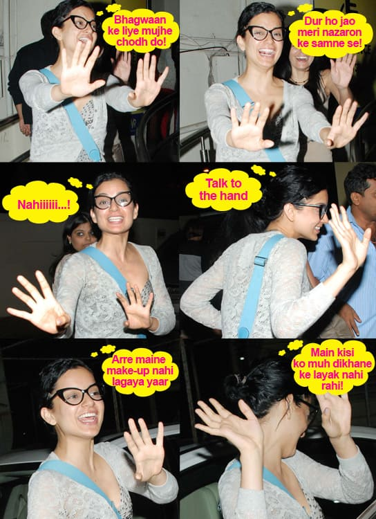 Kangna Ranaut caught on candid camera!