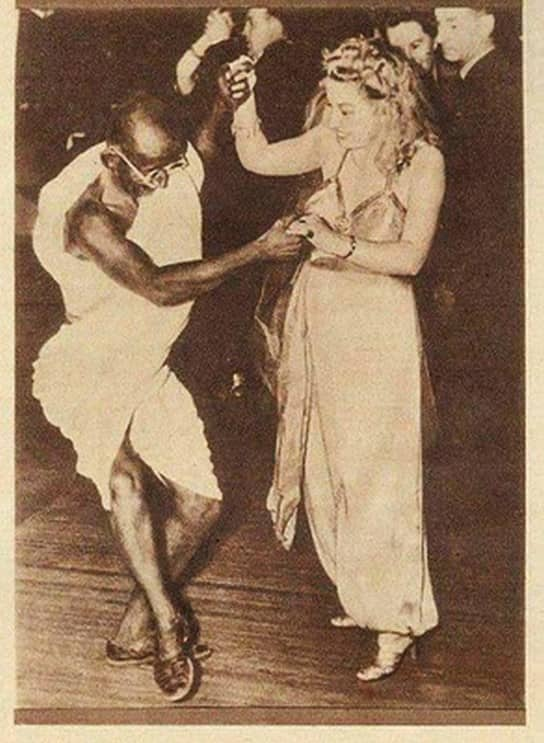 Mahatma Gandhi dancing with girl is an actor!
