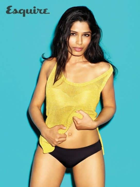 Freida Pinto shows off her raunchy side!