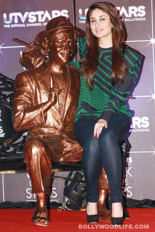 Kareena Kapoor sits on Raj Kapoor's lap at Bollywood's official 'walk of fame'
