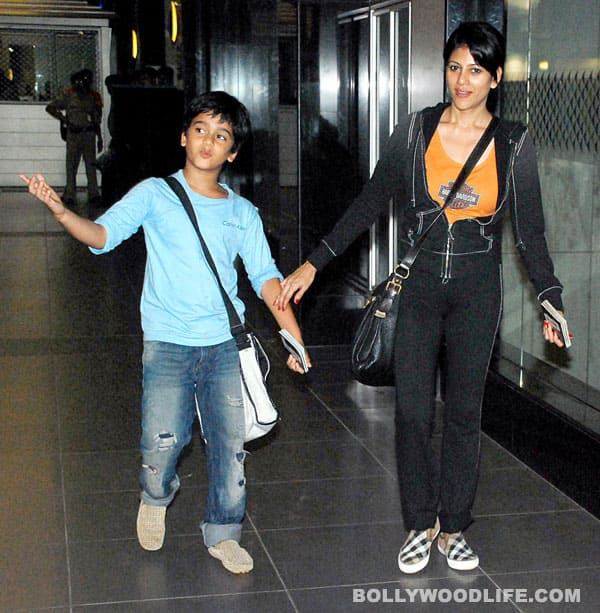 Sajid Nadiadwala's wife and son