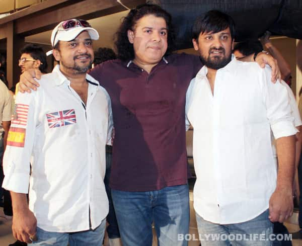 Sajid Khan with composers Sajid-Wajid