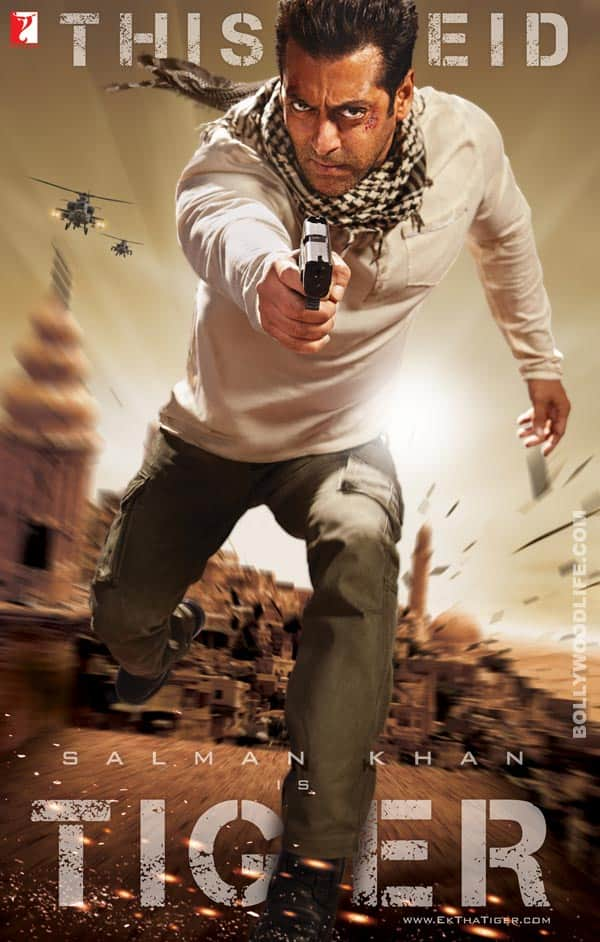 EK THA TIGER poster: Salman Khan is ruggedly hot!