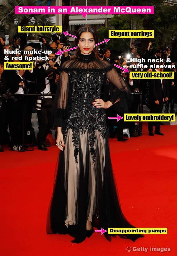 Sonam Kapoor's look in Cannes:Unsurprising