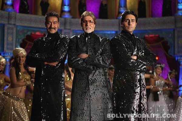 Amitabh, Abhishek, Ajay groove in garishsherwanis