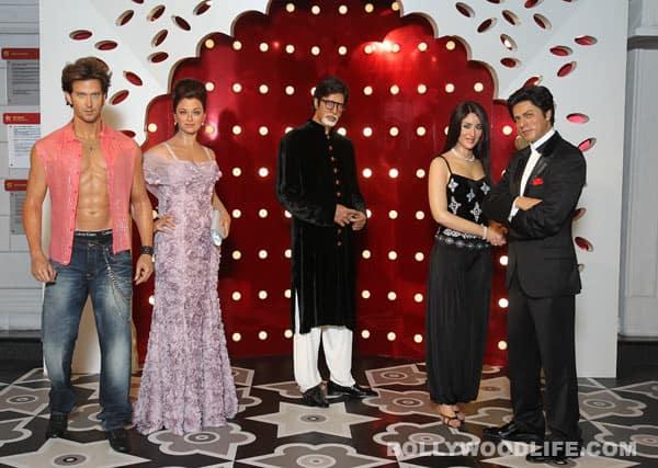 Aishwarya Rai, Shahrukh Khan, Hrithik Roshan, Amitabh Bachchan, Kareena Kapoor at Madame Tussauds Hong Kong