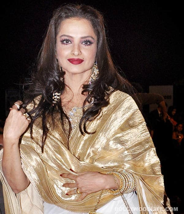 Rekha does Rajya Sabha, as Jaya Bachchan looks on