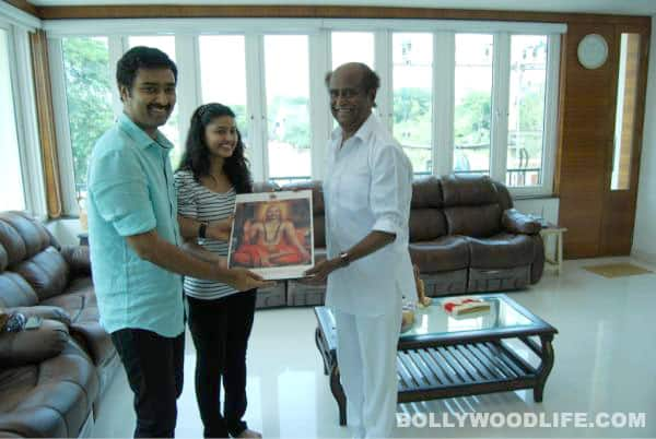 Rajinikanth blesses newlyweds Sneha and Prasanna