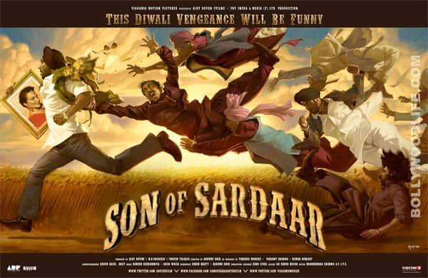 SON OF SARDAAR digital poster: Impressive