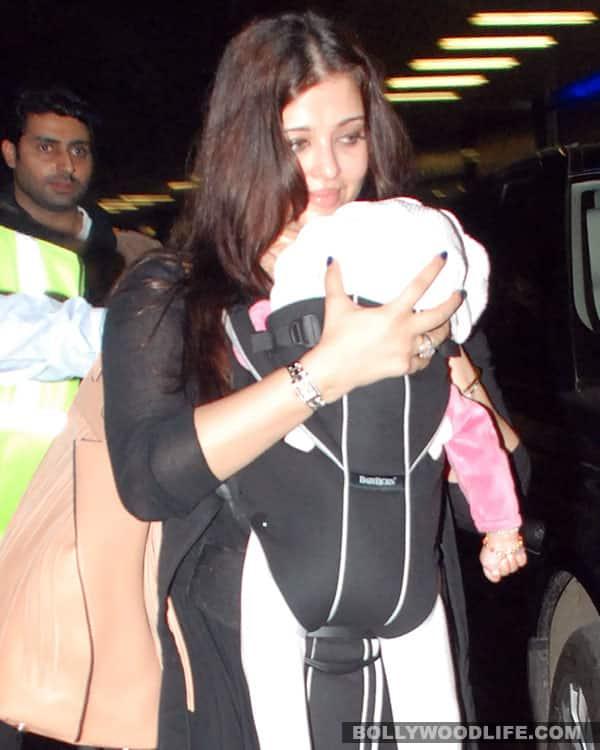 Aishwarya Rai Bachchan with her baby Aaradhya at Mumbai airport!