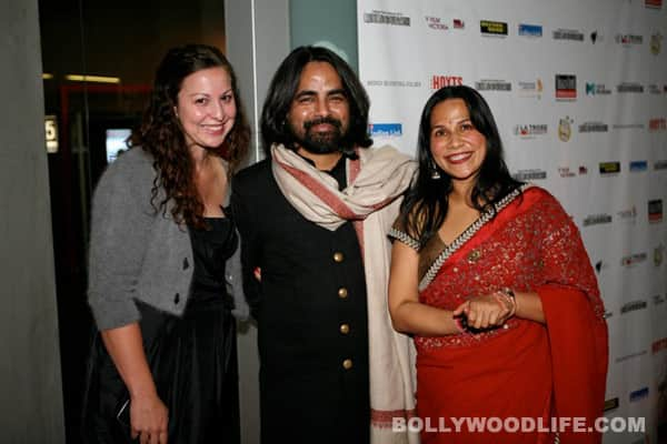 Mitu Bhowmick Lange and Sabyasachi Mukherjee with a guest