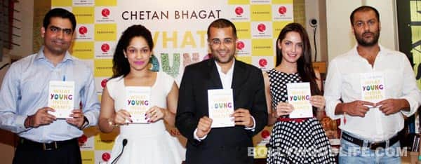 Unveiling of Chetan Bhagat's book 'What young India wants'