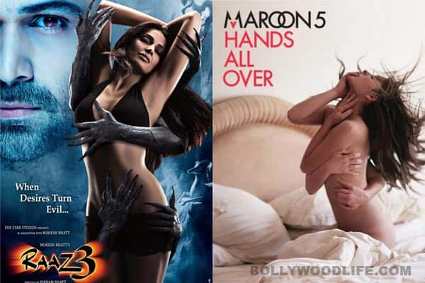 Is Vikram Bhatt's 'Raaz 3' poster inspired by famous band Maroon 5's album cover?