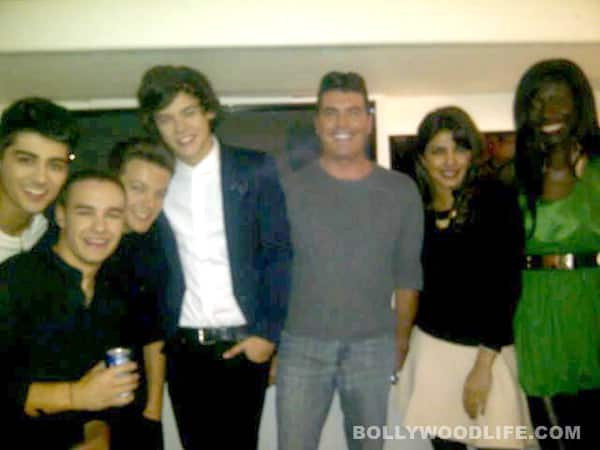 Priyanka Chopra meets Simon Cowell on the sets of X Factor USA
