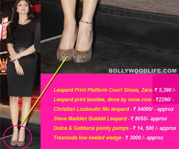 Want Shilpa Shetty's animal print heels?