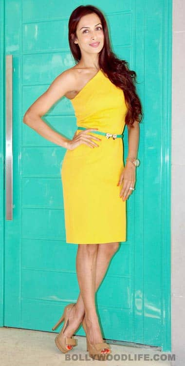 <b>Malaika Arora Khan:</b> Mrs Khan is the ultimate style icon – be it in yellow or pink, she gets all the attention. The green belt is a good style choice, Malaika!