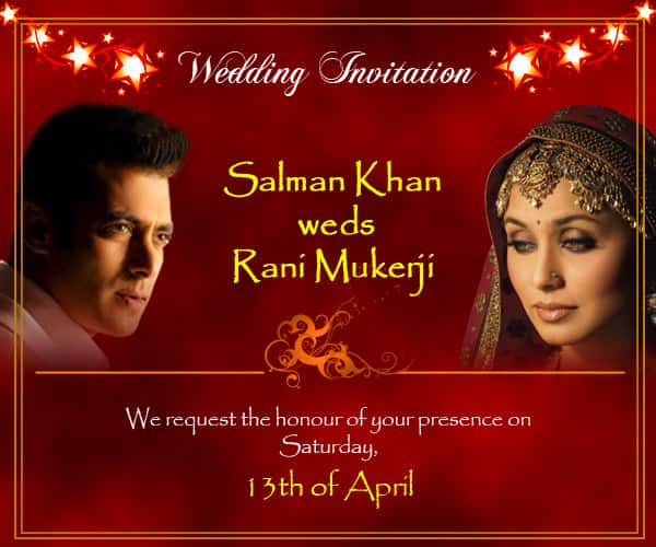 Salman Khan and Rani Mukerji all set to get hitched!