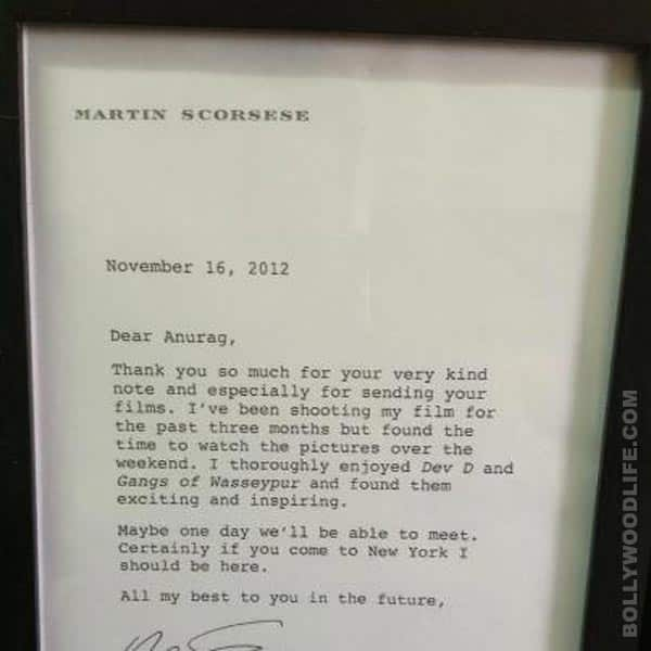 Anurag Kashyap shows off his biggest award – a letter from Martin Scorsese!