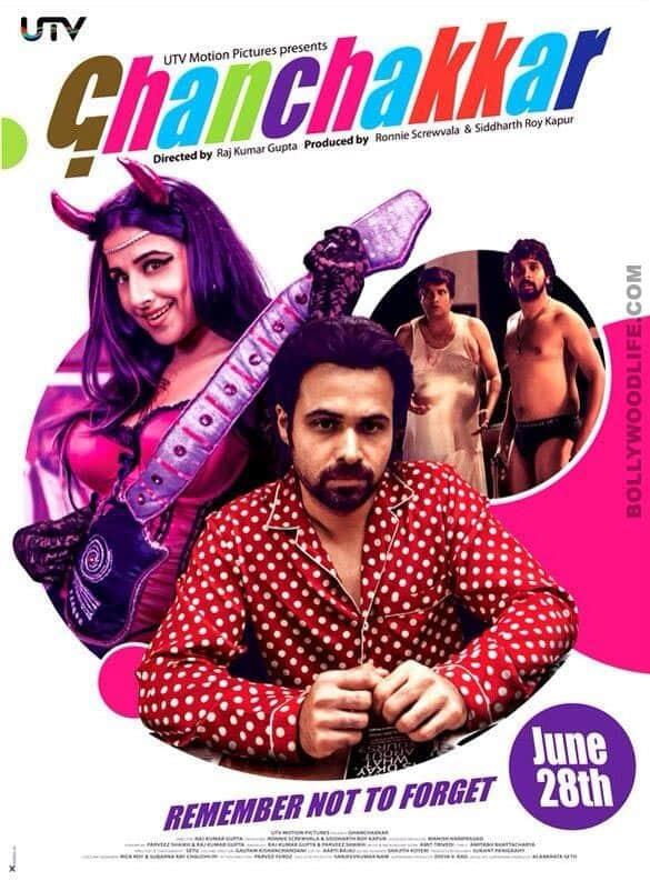 Ghanchakkar poster: Vidya Balan and Emraan Hashmi pose with a chaddi-clad Namit Das