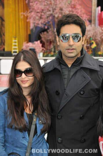 The Times Of India Film Awards 2013: Aishwarya Rai Bachchan, Abhishek Bachchan and Shiamak Davar arrive at Vancouver