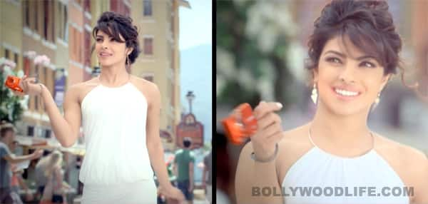 Priyanka Chopra in super short dresses in Coolpix ads