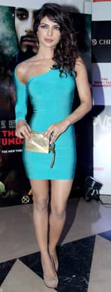 Priyanka Chopra looks chic in the body-con dress by The Source, Fendi pumps and Ferragamo earrings!