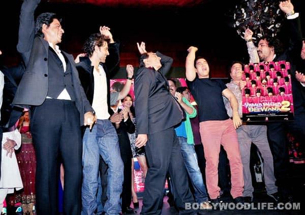 Shahrukh Khan, Aamir Khan, Hrithik Roshan and Akshay Kumar release Yamla Pagla Deewana 2 music album: View pics!