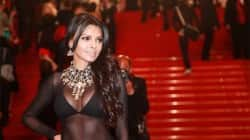 Sherlyn Chopra wears a cleavage revealing outfit at the 66th Cannes International Film Festival