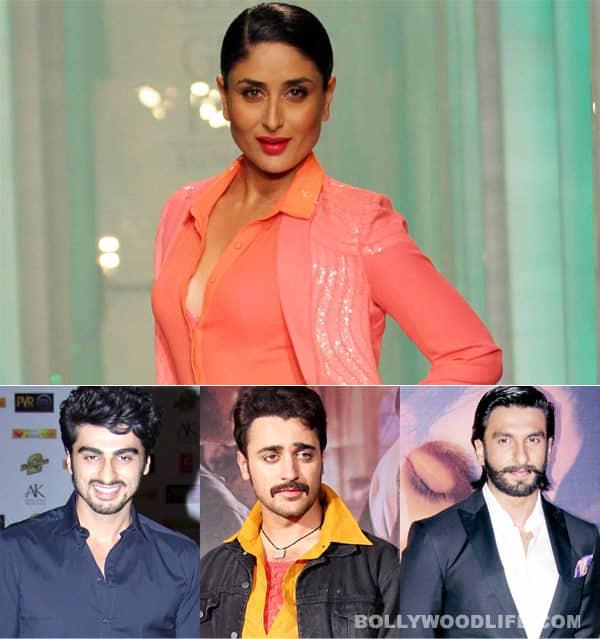 Why do Ranveer Singh, Imran Khan and Arjun Kapoor have a crush on Kareena Kapoor Khan?
