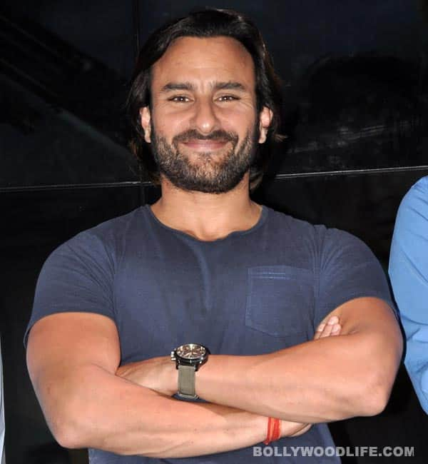 Saif Ali Khan taken for a ride in a helicopter during ad-film shoot in Jaipur