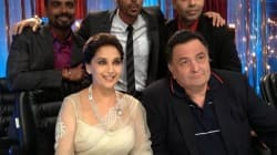 Rishi Kapoor and Arjun Rampal on the sets of Jhalak Dikhhla Jaa 6