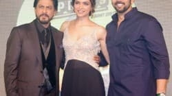 Shahrukh Khan, Deepika Padukone and Rohit Shetty