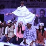 Amitabh Bachchan, Kareena Kapoor, Arjun Rampal, Ajay Devgn put on topis: Watch Satyagraha on the sets video!