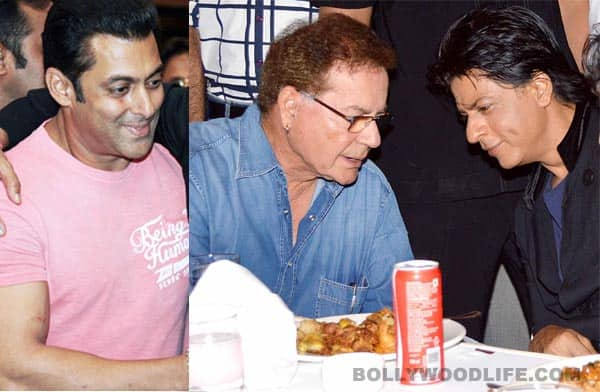 Salman Khan and Shahrukh Khan must've decided to be mature on that day: Salim Khan on the famous hug